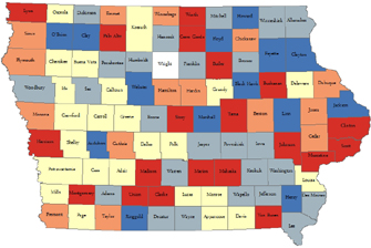 Case Study AgriBiz In All Iowa Counties Decision Innovation - Counties in iowa