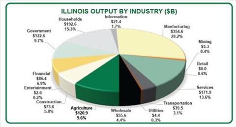Illinois Output by Industry